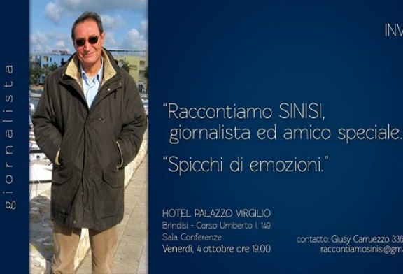 """Ricordando Franco Sinisi, giornalista, amico speciale. """"Spicchi di emozioni"""""""