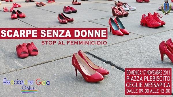 stop al femminicidio a ceglie arriva scarpe senza donne brindisi oggi news brindisi notizie brindisi e provincia brindisioggi it