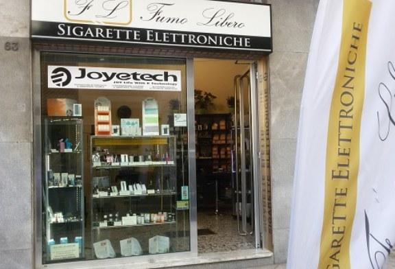 Spaccata al negozio di sigarette elettroniche a Corso Roma