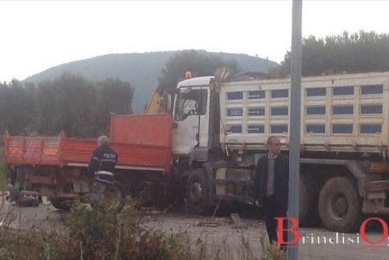 Scontro mortale tra due camion, perde la vita un imprenditore di 64anni