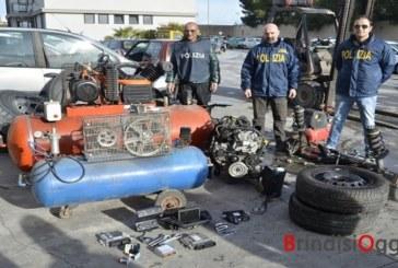 Scoperto a Sant'Elia un altro garage pieno di pezzi d'auto rubate, due nei guai