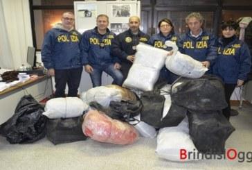 La squadra mobile trova quasi 2 quintali di droga in un villino al mare, due arresti