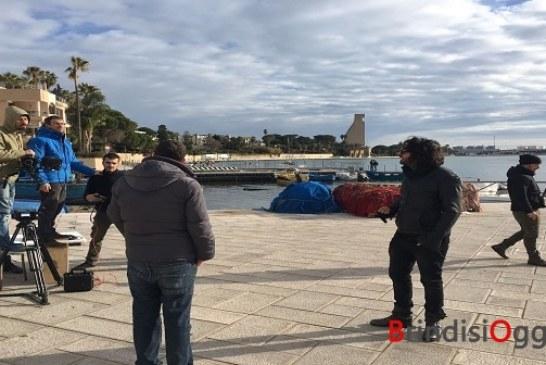 Villaggio pescatori e il porto nel video clip della canzone di Albano per il Festival di Sanremo