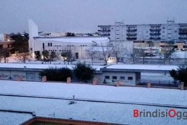 Nevica anche nel Brindisino, Mesagne la più imbiancata, da Lecce e Taranto le immagini più belle- Video