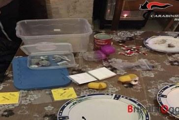 In cucina intenti a preparare le dosi di droga, beccati un fratello e una sorella