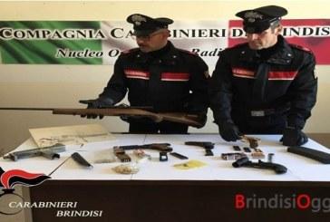 Armi e munizioni in casa, ma anche un progetto per costruire un fucile arrestato 44enne
